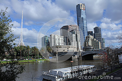 Princes Bridge Melbourne Editorial Stock Photo