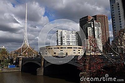 Princes Bridge Melbourne Editorial Image