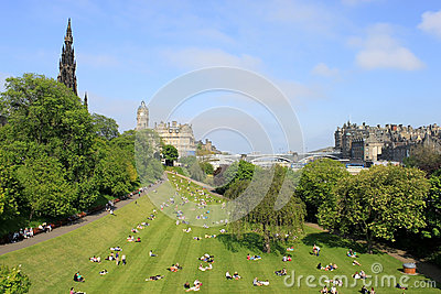 Princes Gardens Edinburgh Scotland Editorial Photo