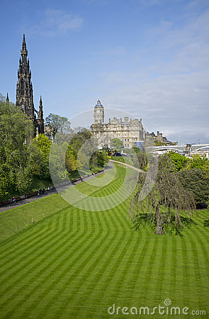 Princes Street Gardens Editorial Stock Image
