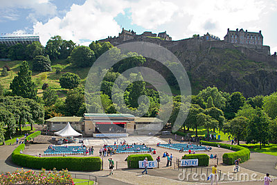 Princes Street Gardens, Edinburgh, Scotland Editorial Image