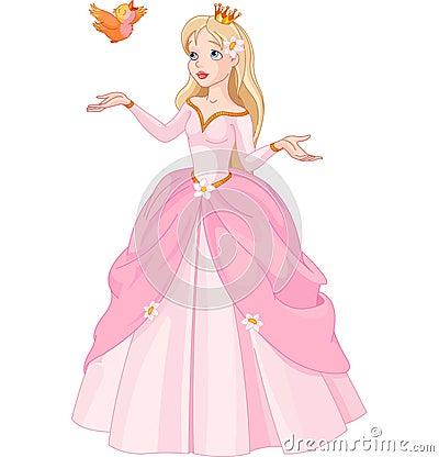 Free Princess And Bird Stock Images - 41491244