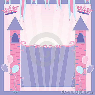 Free Princess Birthday Party Invitation Castle Stock Photos - 23549423