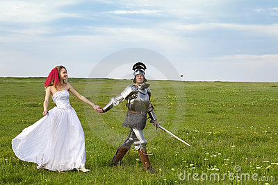 Princess Bride and her knight / wedding