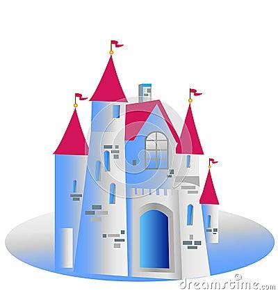 Princess castle illustration