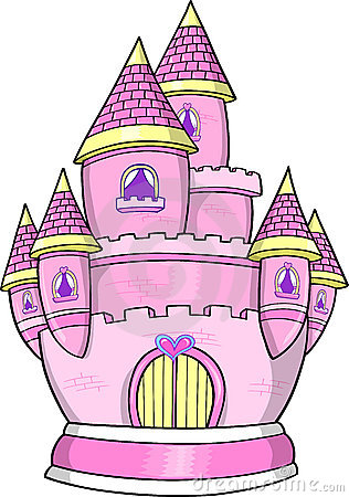 Princess Castle Vector Illustration