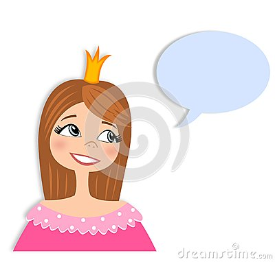 Princess in conversation  Cartoon character