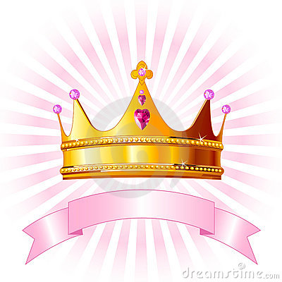 Princess Crown Card Stock Photo - Image: 15960180