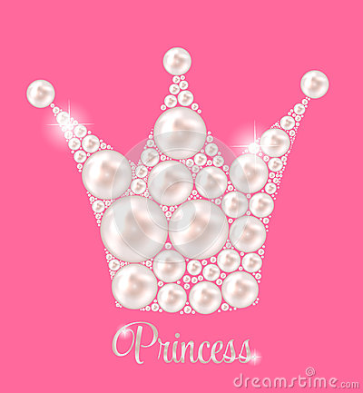 Free Princess Crown Pearl Background Vector Royalty Free Stock Photos - 43259968