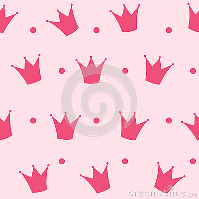 Free Princess Crown Seamless Pattern Background Vector Stock Photos - 36146403