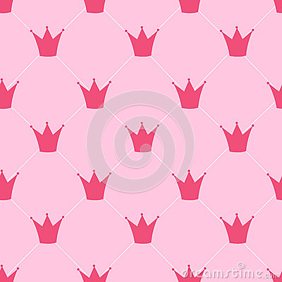 Free Princess Crown Seamless Pattern Background Vector Stock Image - 44276391