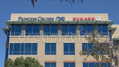 Princess Cruises and Cunard Line Office Headquarter in Santa Clarita, CA stock video