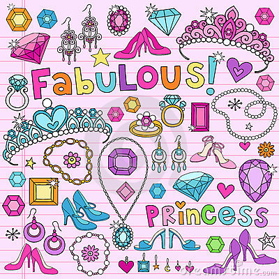 Princess Design Elements Notebook Doodles