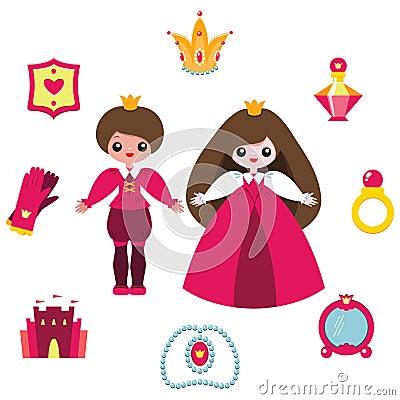 Princess design elements set
