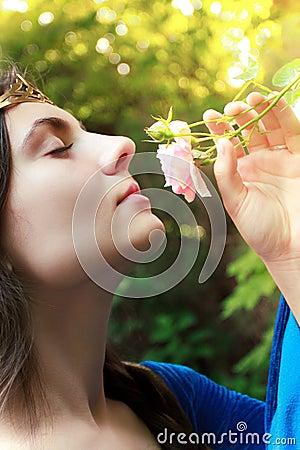 Princess and flower
