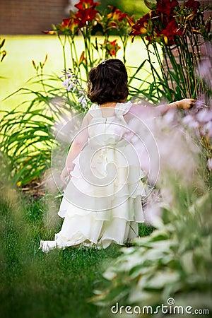 Princess in the garden