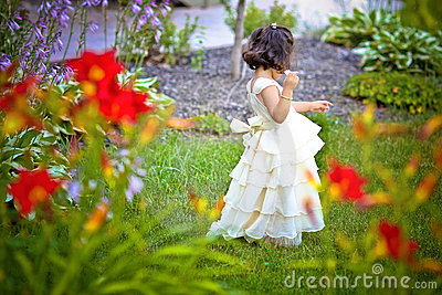 Princess in the garden