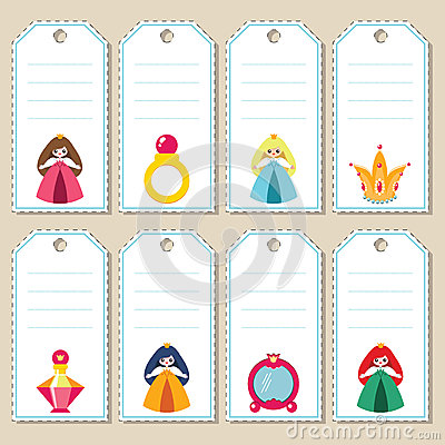 Princess gift tags