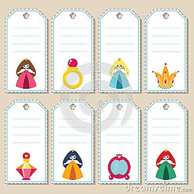 Princess gift tags