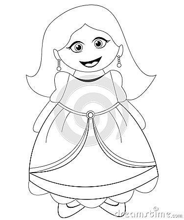Princess girl in black & white