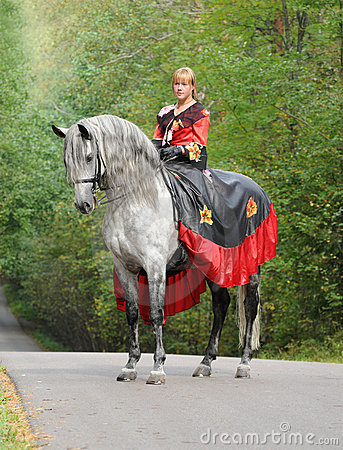 Princess on horse