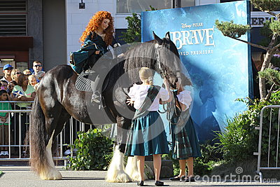 Princess Merida at Brave premiere Editorial Photo