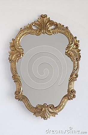 Princess Mirror On A Wall Royalty Free Stock Photos