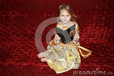 Princess with an old book