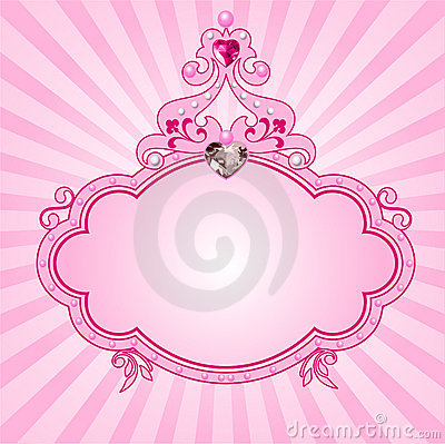 Free Princess Pink Frame Royalty Free Stock Images - 14422279