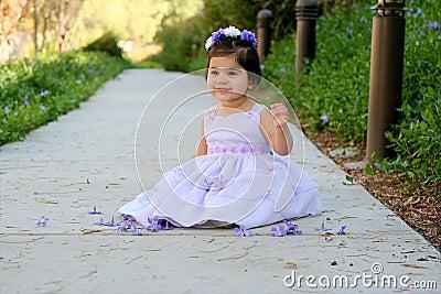 Princess in purple
