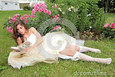 Princess reads book