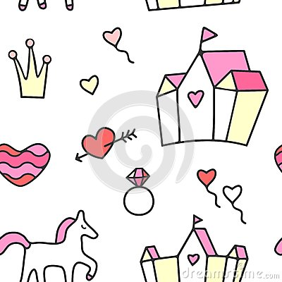 Princess Seamless Pattern Stock Images - Image: 26805424