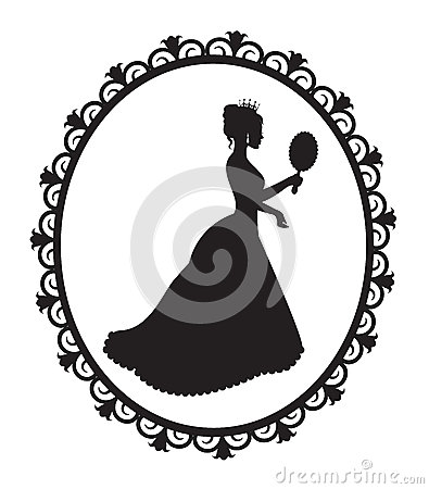 Free Princess Silhouette In The Frame Royalty Free Stock Photo - 33407655