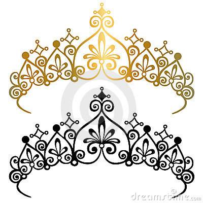 Princess Tiara Crowns Vector Illustration