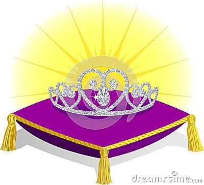 Princess Tiara on Pillow/eps