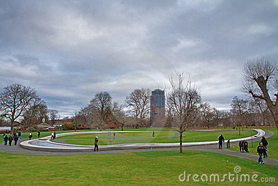 Princess of Wales Memorial Fountain in Hyde Park Editorial Image