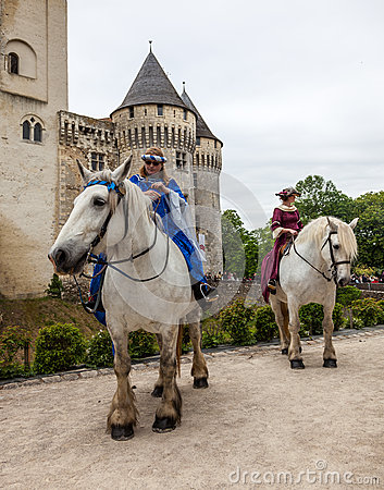 Princesses Riding Horses Editorial Image