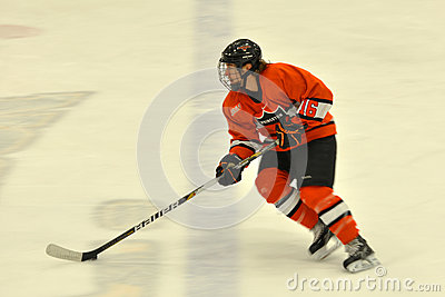 Princeton #16 in NCAA Hockey Game Editorial Photo