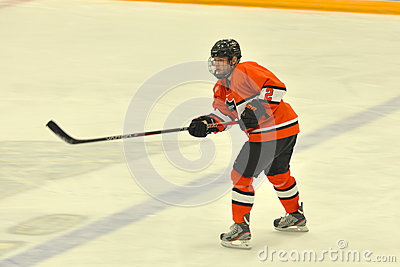 Princeton #2 in NCAA Hockey Game Editorial Photo