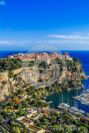 Principaute della Monaco e di Monte Carlo Immagine Stock Editoriale