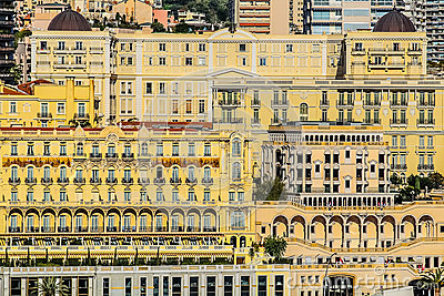 Principaute of monaco and monte carlo Editorial Stock Photo