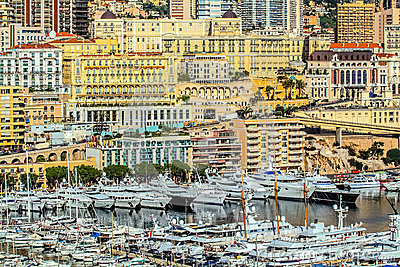 Principaute of monaco and monte carlo Editorial Photo