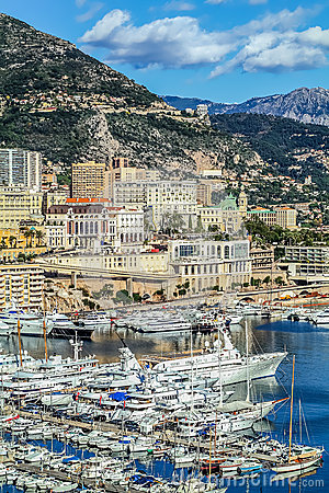 Principaute of monaco and monte carlo Editorial Photography