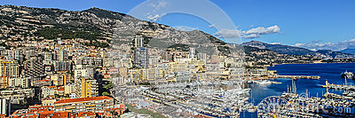 Principaute of monaco and monte carlo Editorial Stock Image