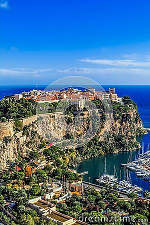 Principaute von Monaco und von Monte Carlo Redaktionelles Stockbild