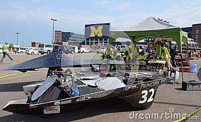 Principia College car at American Solar Challenge Editorial Stock Image