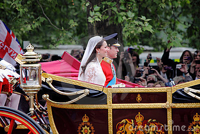 Prins William en het huwelijk van Catherine Redactionele Stock Foto