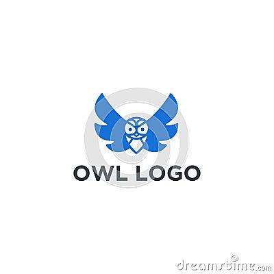 Owl Logo Template Design Vector, Emblem, Design Concept, Creative Symbol, Icon Stock Photo