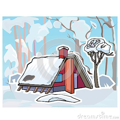 Winter landscape for turkish lessons Stock Photo