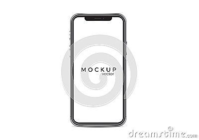 Iphone x mockup isolated on white background Stock Photo
